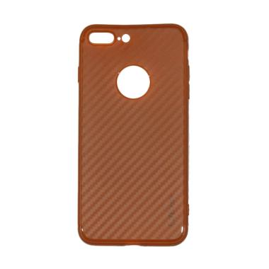 Lize Carbon iPhone 7 Plus Case Slim ... thin / Jelly Case - Brown