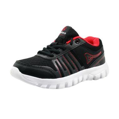 Ardiles Pras Sepatu Sekolah Unisex - Hitam Merah