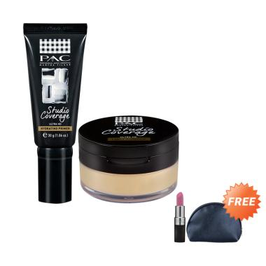 PAC Studio Coverage Primer & 01 Loo ... Free PAC Lipstick & Pouch