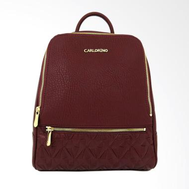 Carlo Rino 0303872-001-14 Backpack Tas Wanita - Maroon