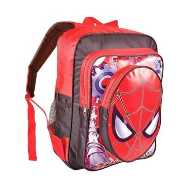 JAVA SEVEN Spiderman Sekolah Tas  Ransek Anak Laki-laki - Merah Comb