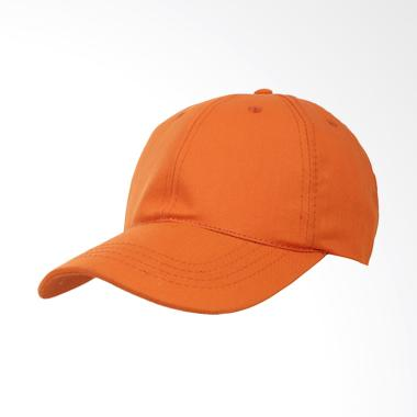 Elfs Shop Twill Polos Baseball Cap Topi Pria - Oranye