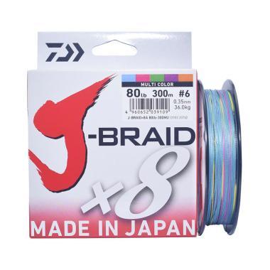 Senar PE Daiwa J Braid X8 300M Ukuran 80 Lb