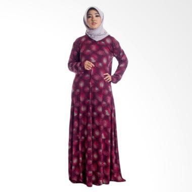 MIMUMOO Payung Gamis Abaya Dress Muslimah Syar'i Hamil - Maroon