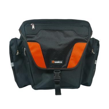 Walco Design Movepak Side Pannier Tas Sepeda - Black Orange [W1397-BK]