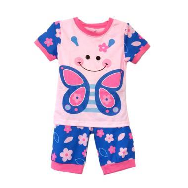 Gleoite Wardrobe PJ.Glow In The Dark Butterfly Baju Tidur Anak