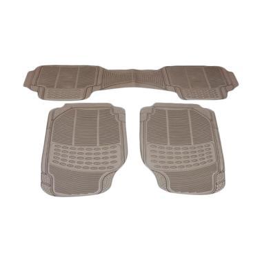 DURABLE Comfortable Universal PVC K ... ega Sedan - Beige [3 pcs]
