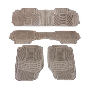DURABLE Comfortable Universal PVC K ... ki Ertiga - Beige [4 pcs]