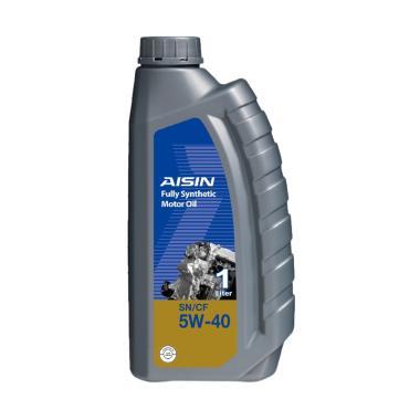 Aisin SN-CF 5W-40 Fully Synthetic Motor Oil untuk Mesin Bensin [1 L]
