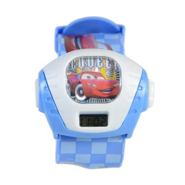 Cars DnB Collection Projector Kotak Jam Tangan Anak - Biru Muda