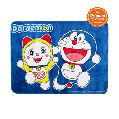 Doraemon Valvet Dorami and Doraemon Carpet Alas Lantai - Blue