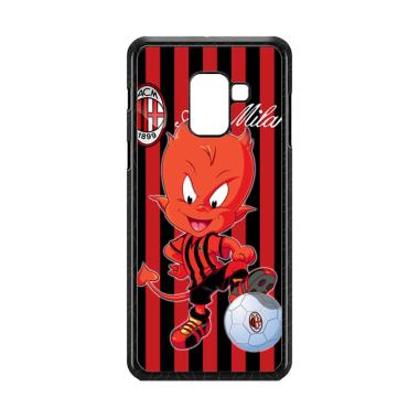 Cococase AC Milan FC E1746 Custom C ... msung Galaxy A8 Plus 2018