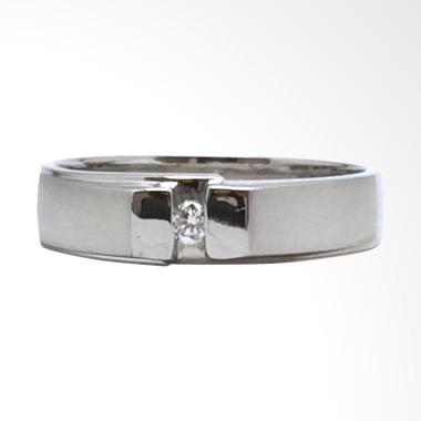 Pentacles FC01537 Wedding Ring White Gold with Diamond