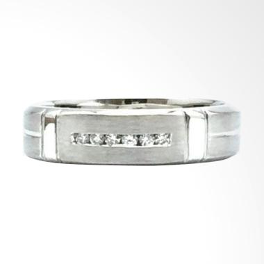 Pentacles FC01797 Wedding Ring White Gold with Diamond