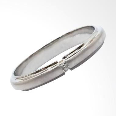 Pentacles FC02375 Wedding Ring White Gold with Diamond