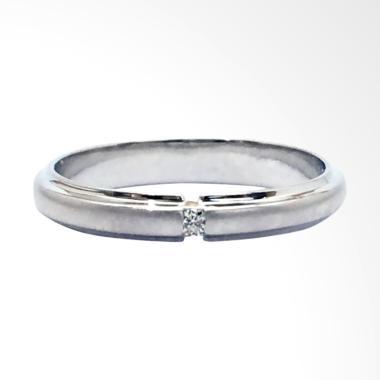 Pentacles FC02374 Wedding Ring White Gold with Diamond