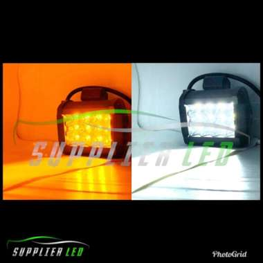 harga Promo Lampu Tembak Kabut Sorot OFFROAD Motor LED 12 Mata 3 Susun Dua Warna Diskon Blibli.com