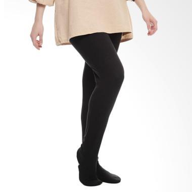 Syifa Collection JUMBO Legging Wudhu Celana Muslim Wanita - Hitam