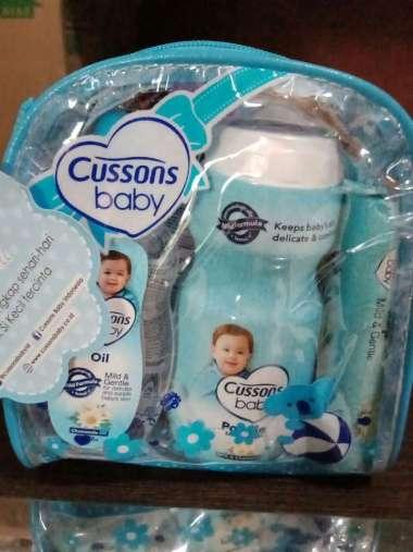 harga Cusson Baby Pack Tas Paket Kado Lahiran Bayi Kecil Biru Blibli.com