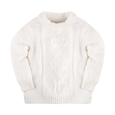 Hello Mici Mini Cable Knitwear Baby Sweater - White