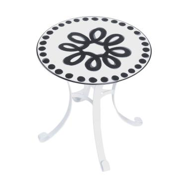 My Choice Enamel Lavender Side Table with Tray [43 cm]