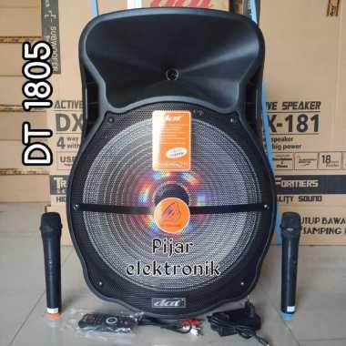 Speaker Portable 18 inch DAT DT 1805 Bluetooth Karaoke