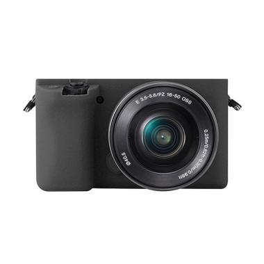 Godric Silicone Sony Alpha A6000 A6 ... Kamera Mirrorless - Hitam