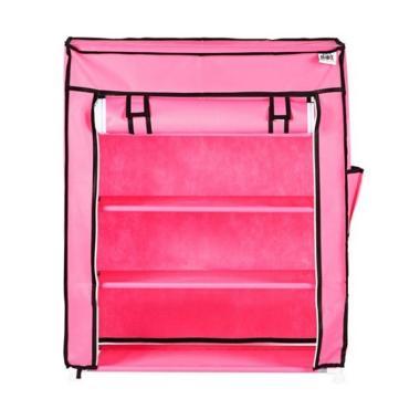 Nine box S4 Cover Rak Sepatu - Pink [4 Susun]