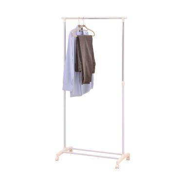 JYSK Clothes Rail Gudme With Shoe Shelf Gantungan Baju - White