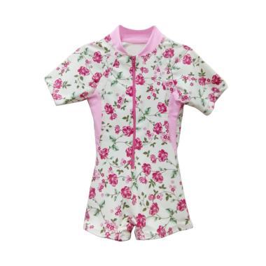 STB Kids Motif Bunga Diving Baju Renang Bayi Perempuan - Pink