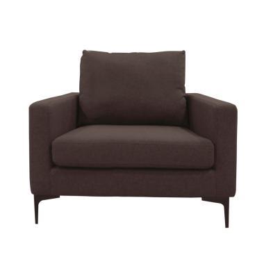 Atria Blume 1 Seater Sofa - Light Brown [Jabodetabek]