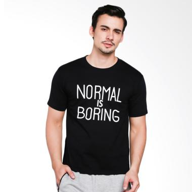 JCLOTHES Kaos Pria Kaos Distro Tumblr Tee Normal Is Boring - Hitam