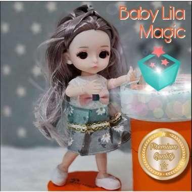 harga Boneka Cantik + Free Baju dan Sepatu / Boneka BJD Doll / Pretty Doll - Baby Lila (Purple Grey Hair) Mainan Anak Perempuan Blibli.com