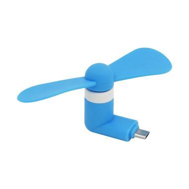 Primavox Mini USB Fan Micro USB Port - Blue