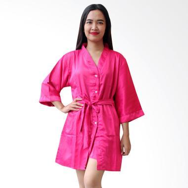 Aily BT025 Kimono with Belt Setelan Baju Tidur Wanita - Pink