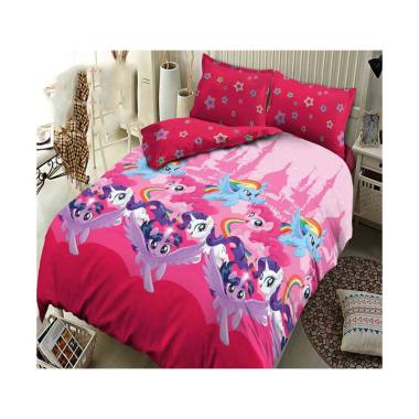 Kintakun Dluxe Kingdom Of Pony Set Sprei - Pink
