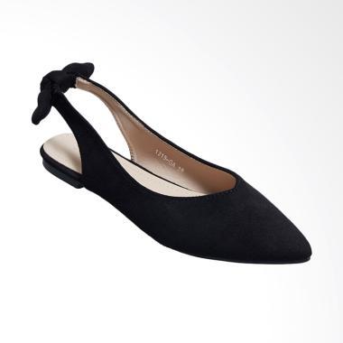 Octav 1219 GA Irenee Slingback Flats Sepatu Wanita Black