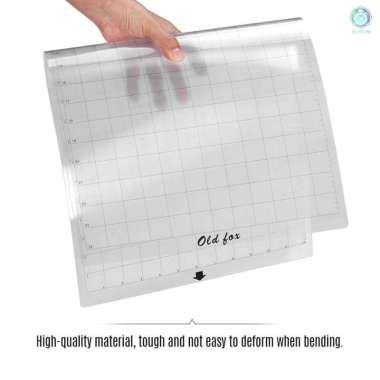harga 3C OLD FOX Replacement Cutting Mat Transparent Adhesive Mat with Measuring Grid 12 * 24 Inch for Silhouette Cameo Cricut Explore Plotter Machine, 3pcs Blibli.com
