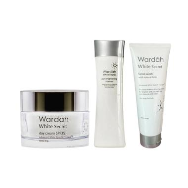 Wardah White Secret Morning Routine ... an Wajah [3 pcs with pot]