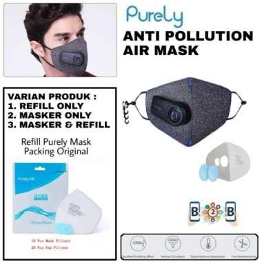 harga Dijual PURELY MASKER KN95 Mask - Anti Polusi - HZSN001 - Masker N95 - Refill Only Limited Blibli.com
