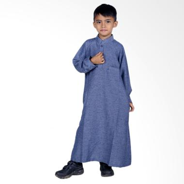 BajuYuli Koko Gamis Baju Muslim Anak Laki-laki - Biru Misty