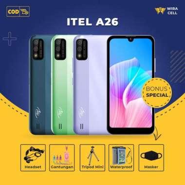 Itel A26 2GB/32GB Smartphone Garansi Resmi Gratis Aksesoris HP