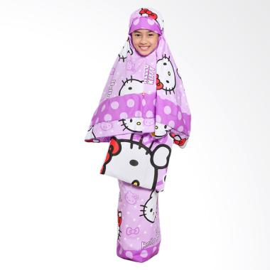 Zahra Kids Hello Kitty Mukena Anak - Ungu