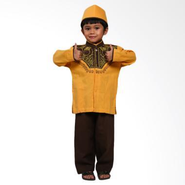 Hafiz Kids Baju Koko Muslim Anak Set - Orange