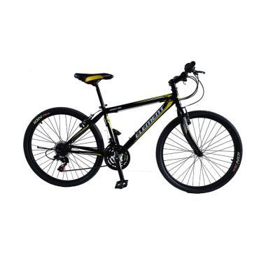 harga Element MTB XC Genius Shimano 21 Speed Sepeda Gunung - Hitam Kuning [26 Inch] Blibli.com