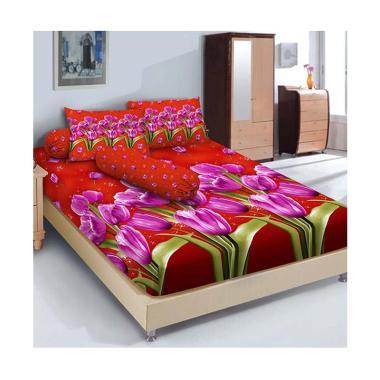 Kintakun Sprei Linen - 180 x 200 (king) - Red Tulipe