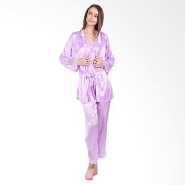 You've Kimono Set Shali 999132 Piyama Wanita - Purple