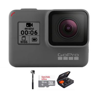 GoPro Hero 6 Combo Attanta Deluxe 16 GB Action Camera - Black
