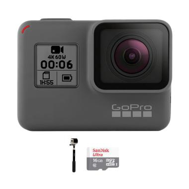 GoPro Hero 6 Combo Supreme 16 GB Action Camera - Black