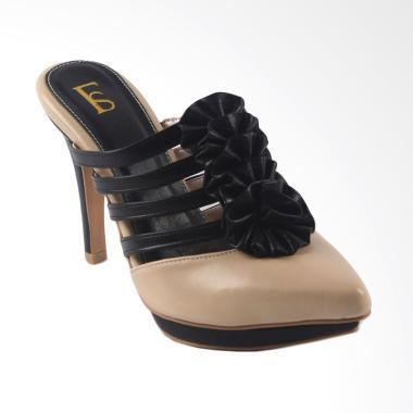 harga Farish Ravela Sandal Heels Wanita - Beige Blibli.com